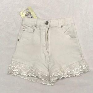 NWT kids white denim gap shorts